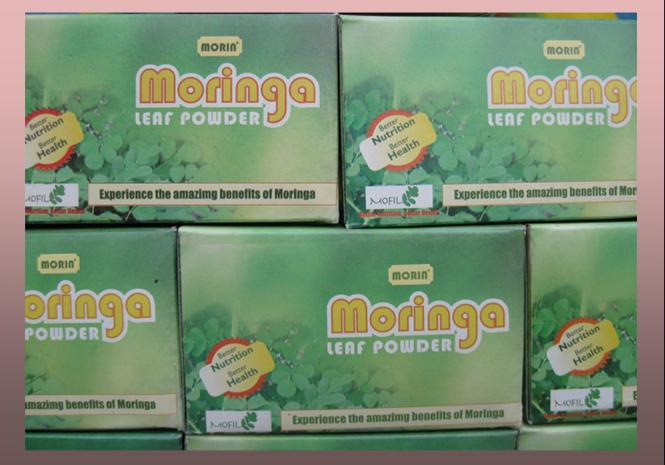 MOFIL's Moringa powder on display