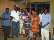 Peer Educators receiving HIV kits