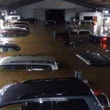 Vehicles submerged